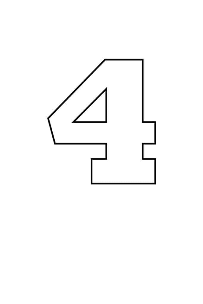 free printable numbers templates printable number 4