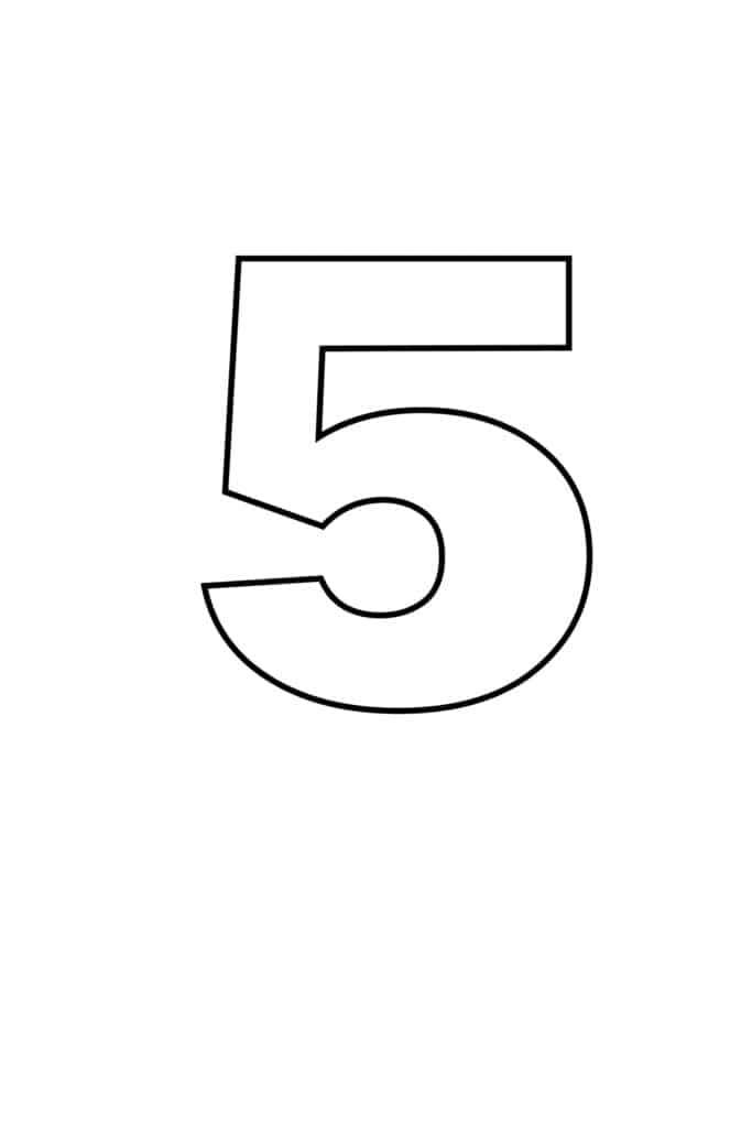 free printable numbers templates printable number 5
