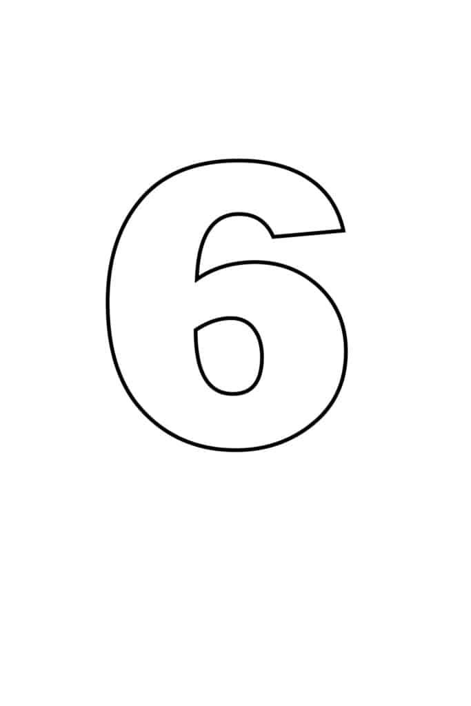 free printable numbers templates printable number 6