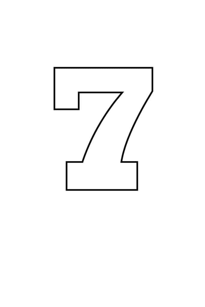 free printable numbers templates printable number 7