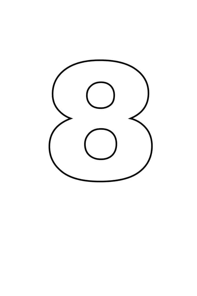 free printable numbers templates printable number 8