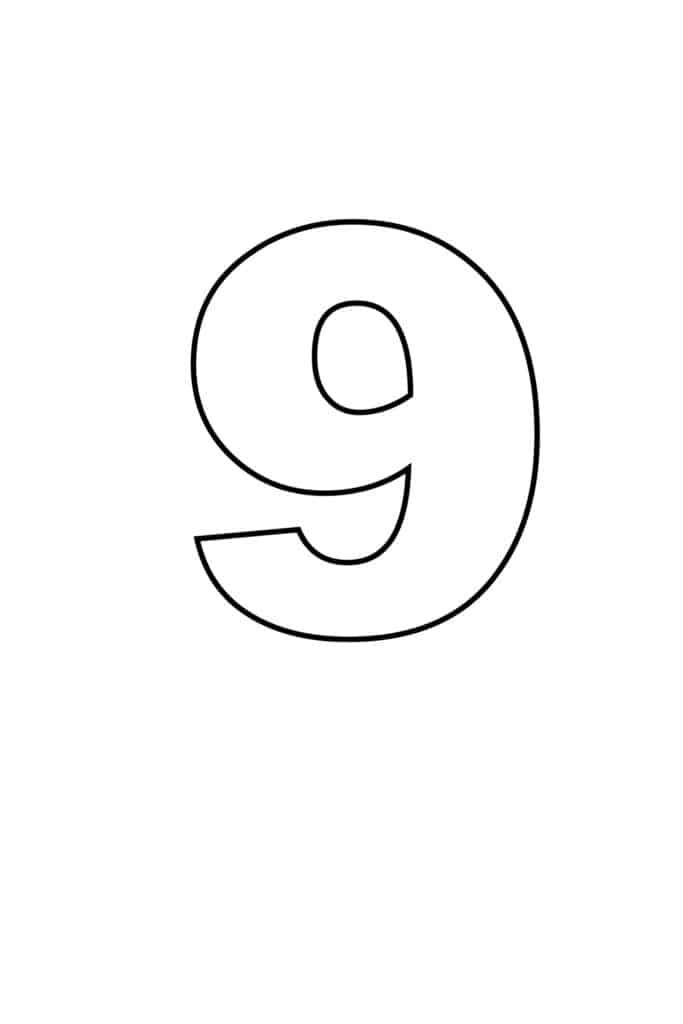 free printable numbers templates printable number 9