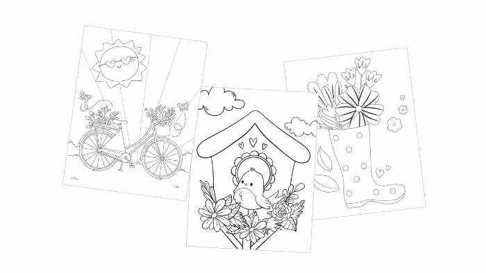 A box of crayons and some creativity and your kid can easily transform one of these beautiful free printable spring flowers coloring pages into a free printable Teacher Appreciation Day card.