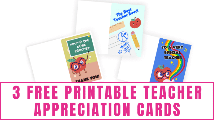 Teacher Appreciation Week is a time to remember and thank those special teachers in our kids' lives. Give them one of these free printable teacher appreciation cards to show them how much you appreciate them!