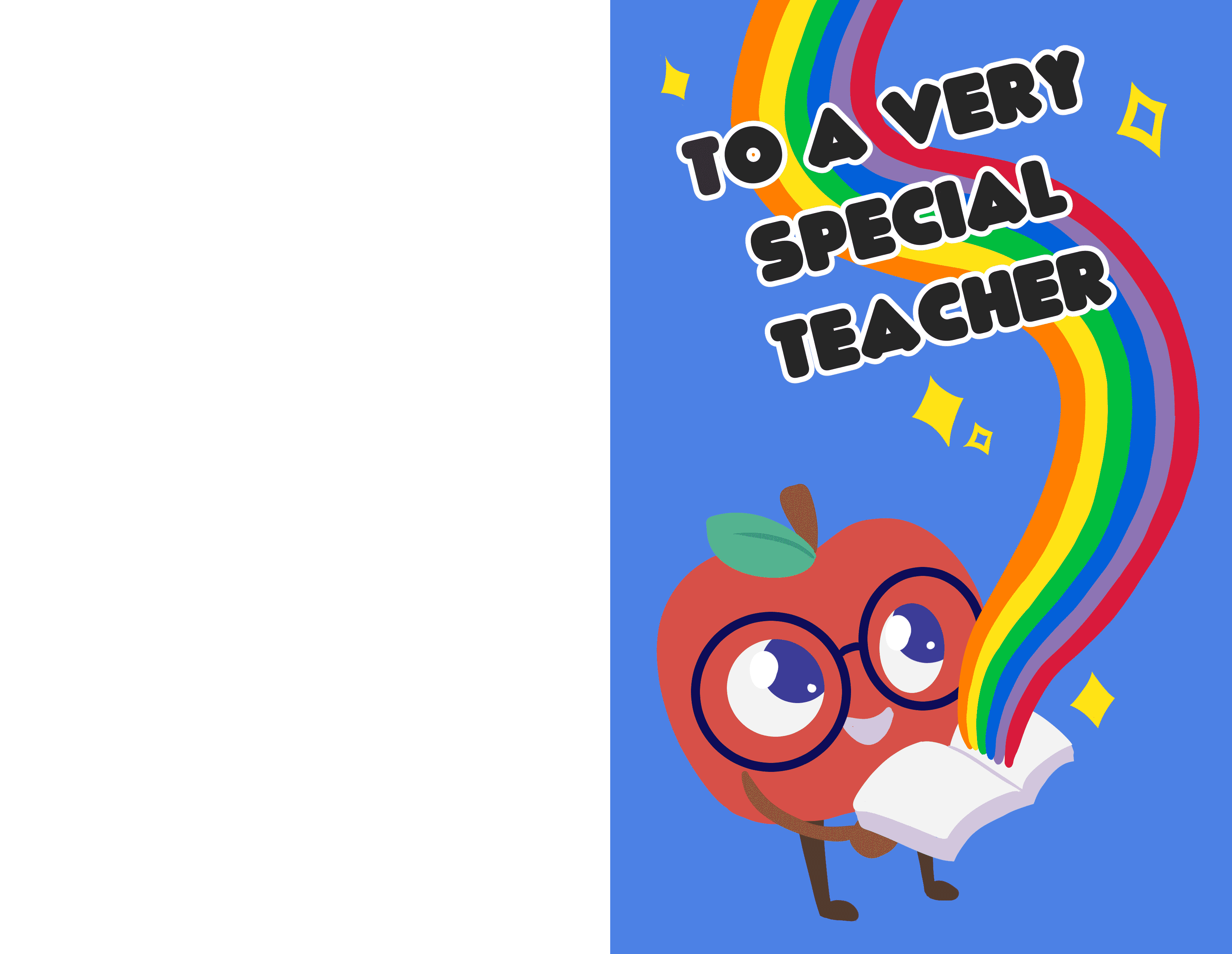 Free printable Teacher Appreciation Week cards aren't just for traditional teachers; this card would work well for a librarian too.