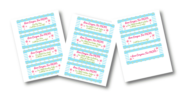 Give mom what she really wants this Mother's Day, help around the house! A cute way to do so is with this homemade coupon book for mom template.
