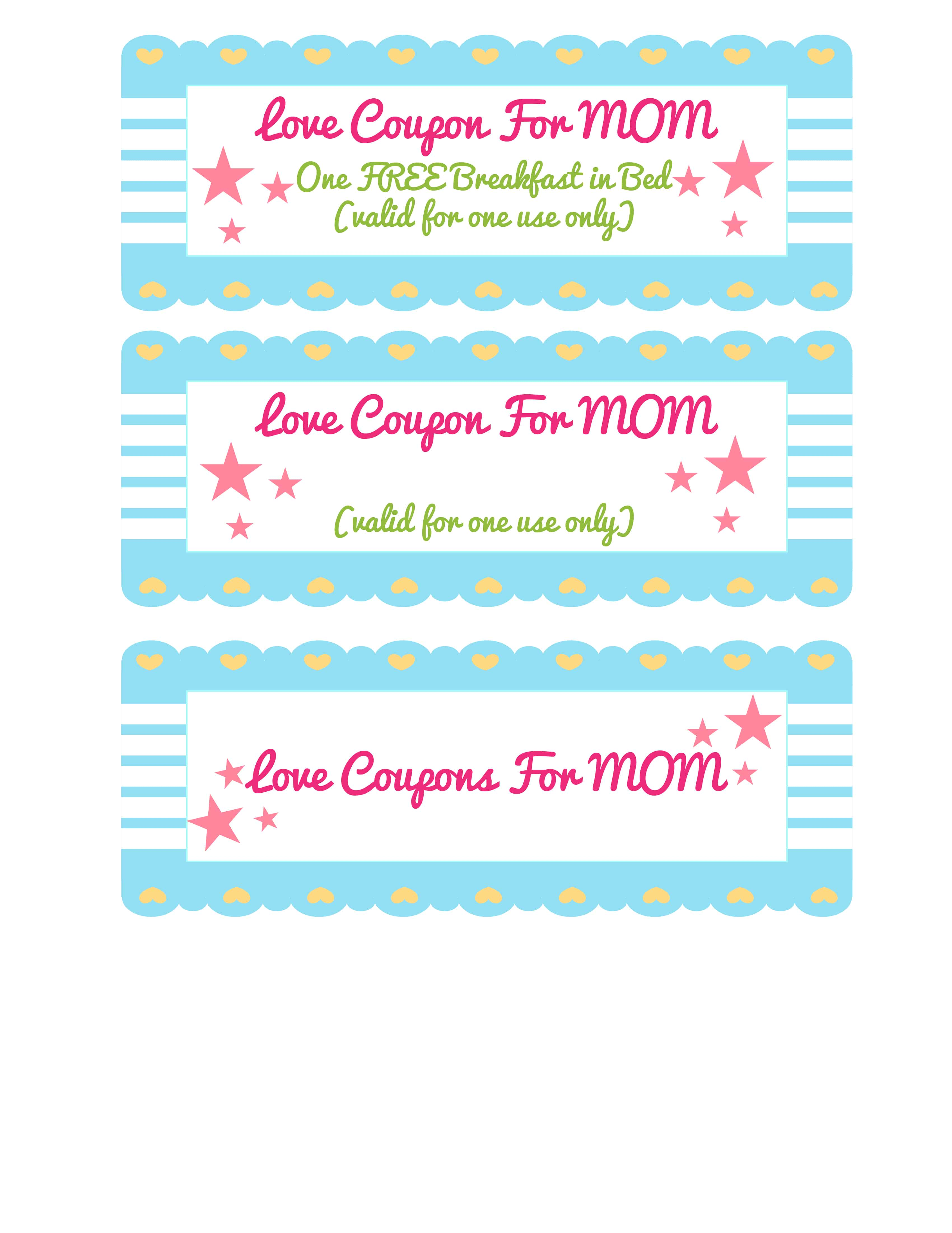 Use this homemade coupon ideas for mom template to create coupons for anything your mom would enjoy, like a DIY mani-pedi!