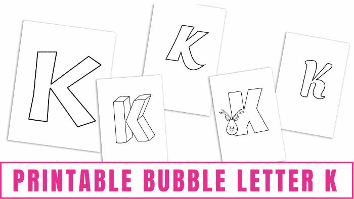 printable bubble letter K