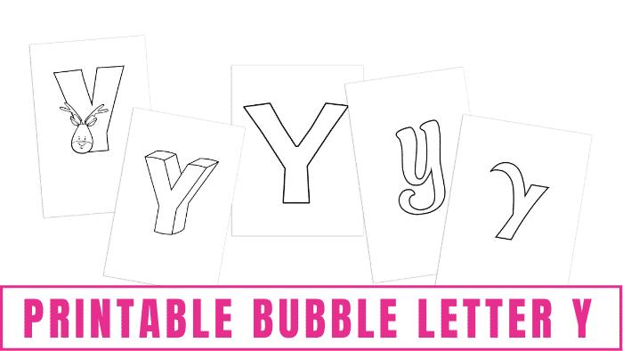 printable bubble letter y