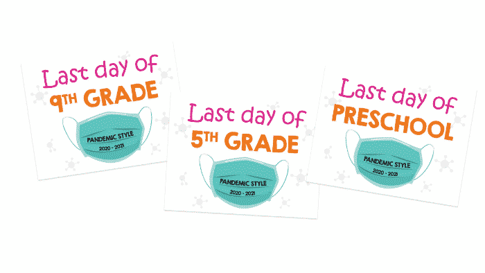 Do you have young kids in school? These printable first last day of school signs are a great way to recognize their achievements in a difficult school year.