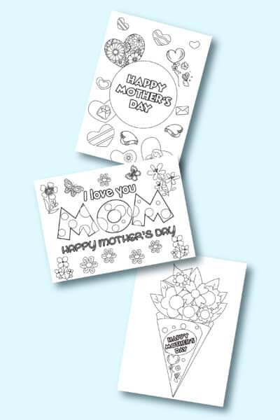 printable Mother's Day cards to color pdf