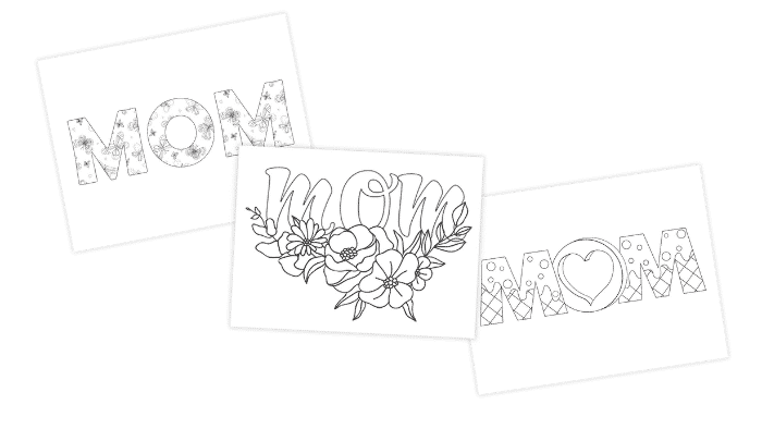 The word mom in bubble letters never looked so good. Decorate one of these beautiful designs for your mom this Mother's Day.