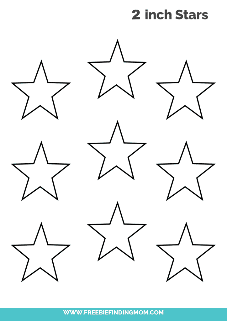 2 inch free printable star cut out template