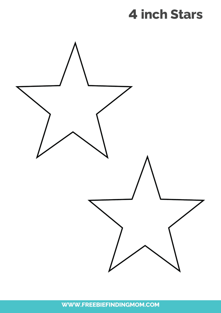 4 inch free printable star template