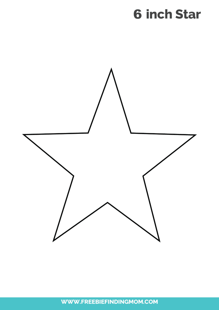 6 inch printable star template free