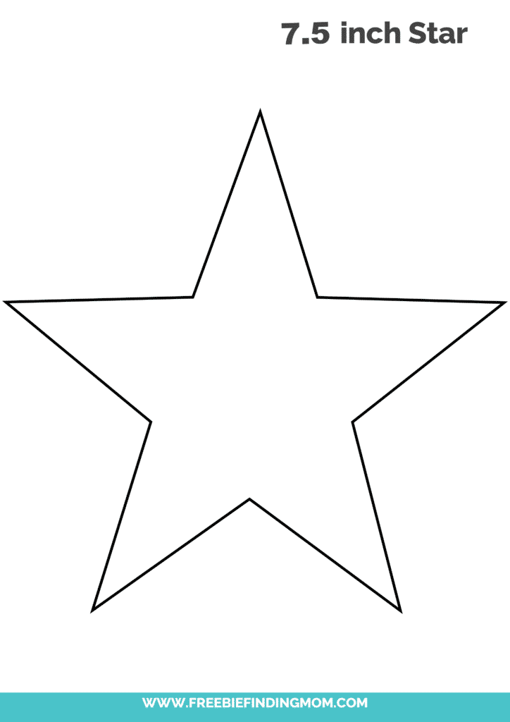 7.5 inch large star template printable