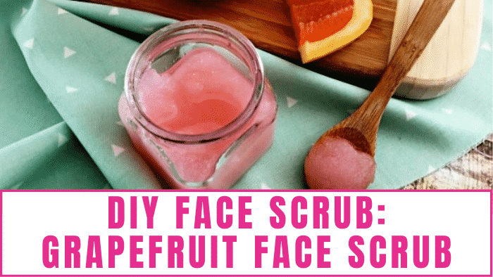 A DIY face scrub, like this grapefruit face scrub recipe, can work wonders for any skin type or concern including acne.