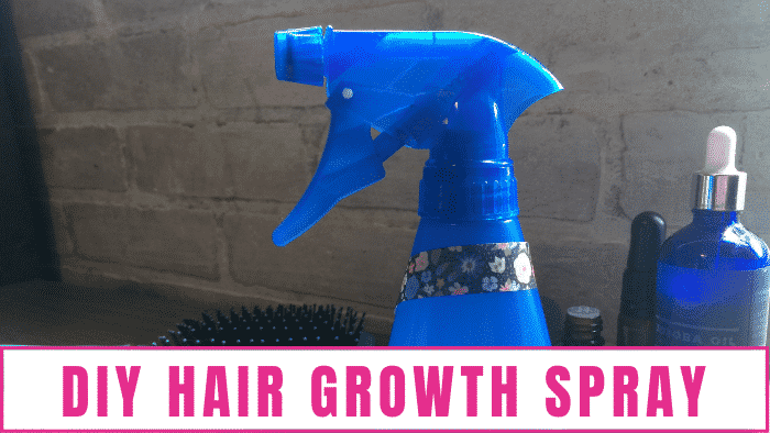This 4 step DIY hair growth spray recipe is not only fast and easy to make but very effective!