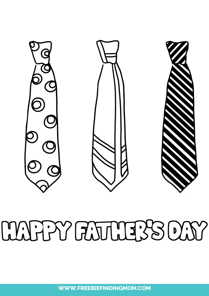 Instead of another tie, this year, give Grandpa Happy Father's Day Grandpa coloring pages printable freebies in the form of this adorable coloring page with ties on it.