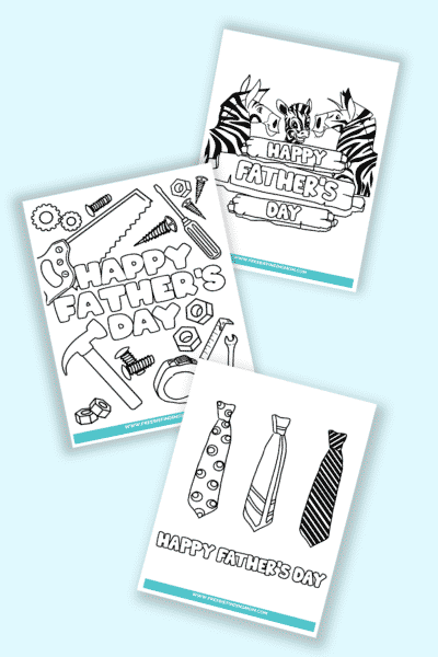 Happy Father's Day coloring pages printable free downloads