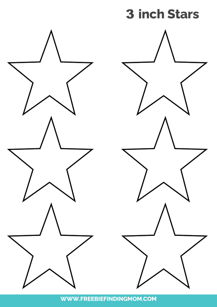 free 3 inch star template printable