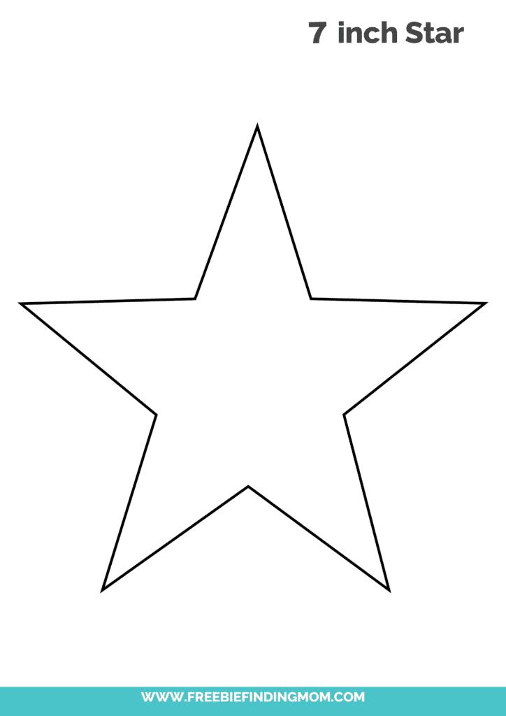 free 7 inch star template PDF