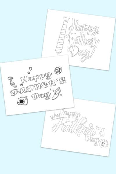 free Happy Father's Day calligraphy writing templates