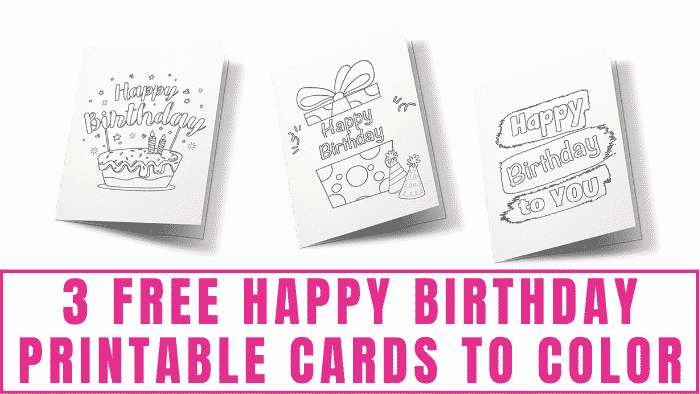 These free Happy Birthday printable cards to color are perfect for anyone on your gift list and they are way more fun to receive than store bought cards!