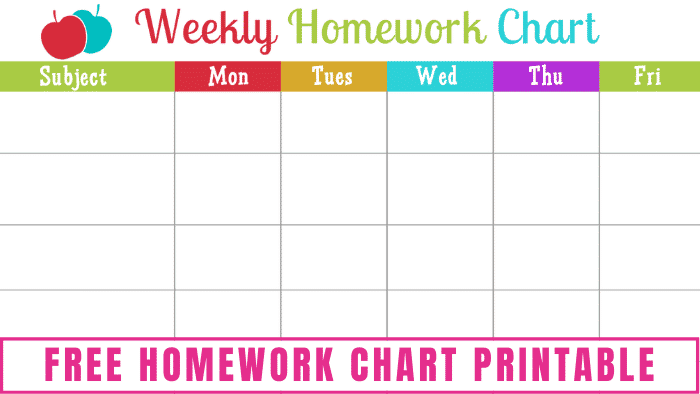 This free homework chart printable will help you and your kids keep track of their schoolwork so nothing is missed.