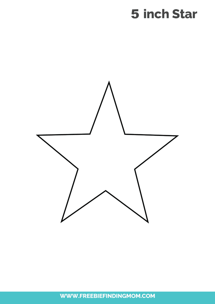 free printable 5 inch 5 point star template