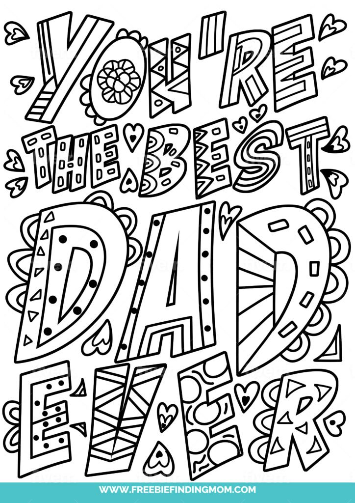 Grandpa is a dad too so you can use these as free printable Happy Father's Day, Grandpa coloring pages; including this one with fine details.