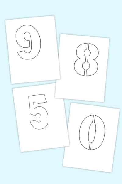 free printable number stencils set