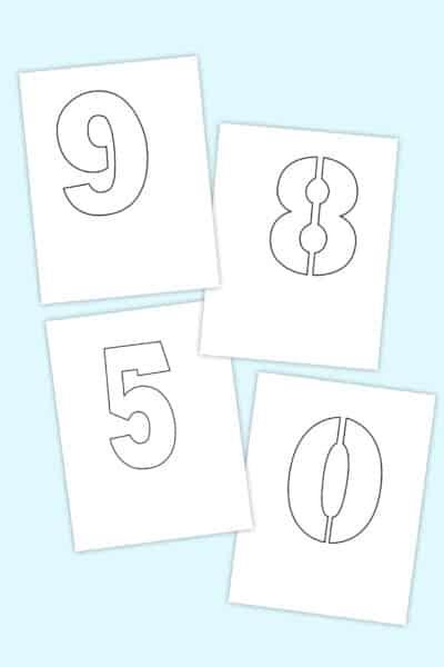 free printable number stencils set