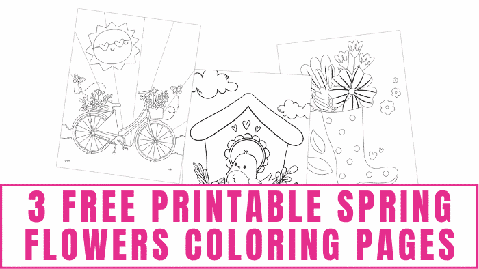 These free printable spring flowers coloring pages are a fun and educational indoor activity for kids that is perfect on a rainy day.