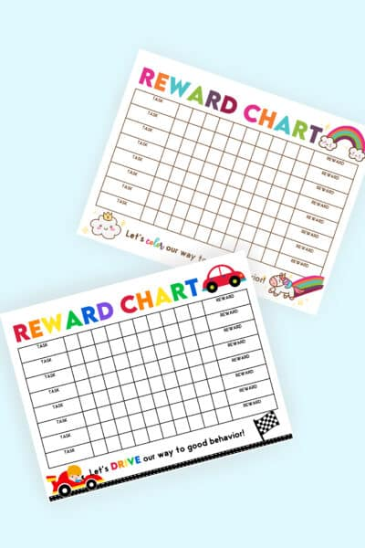 free reward chart for kids printables