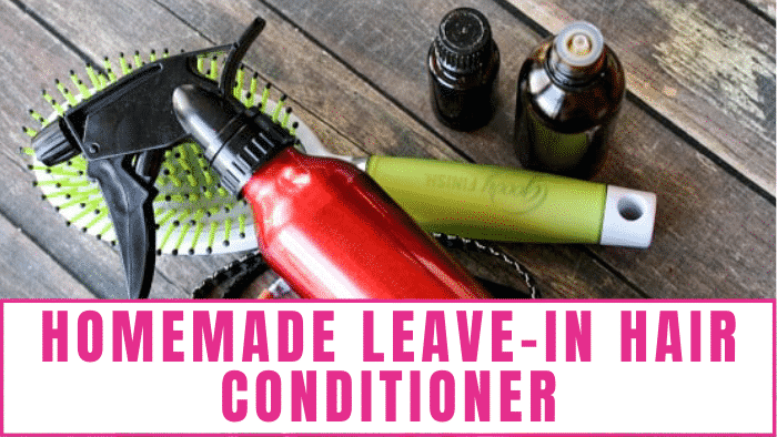 You don't have to spend a lot money and use harmful chemicals on your hair to get the look you want. Give this all natural homemade leave-in hair conditioner a try!