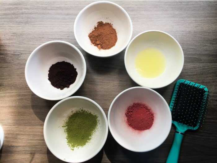Add extra ingredients for DIY red hair dye to this DIY natural hair dye recipe to help you achieve your desired color.