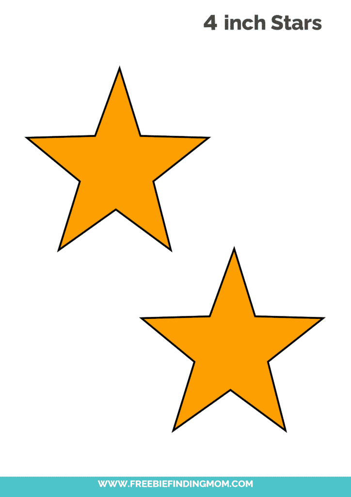 yellow 4 inch free printable star template