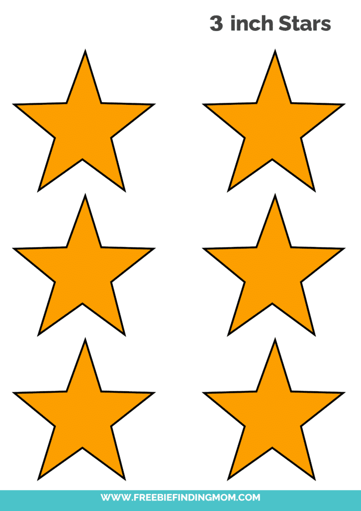 yellow free 3 inch star template printable