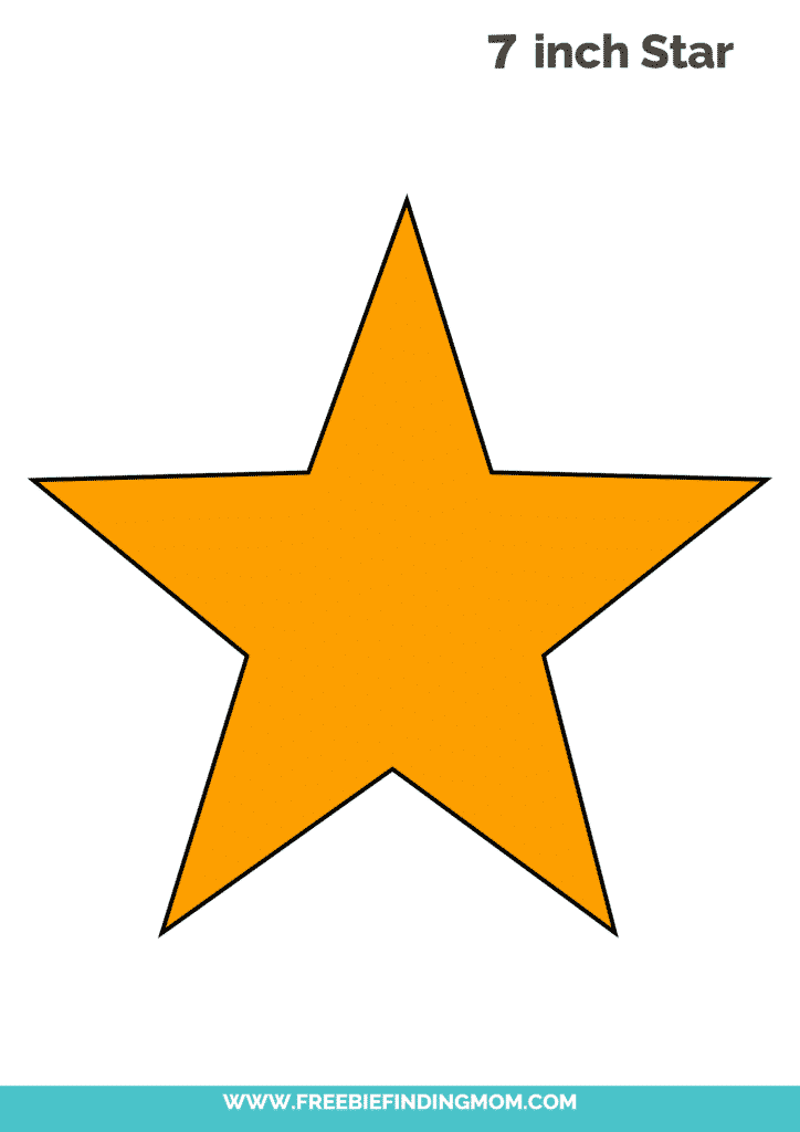yellow free 7 inch star template PDF