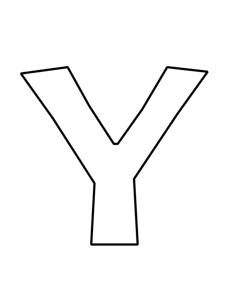 bubble letter Y