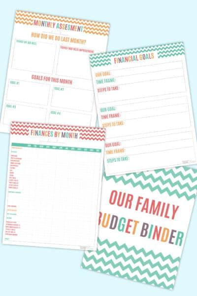 DIY budget binder printables
