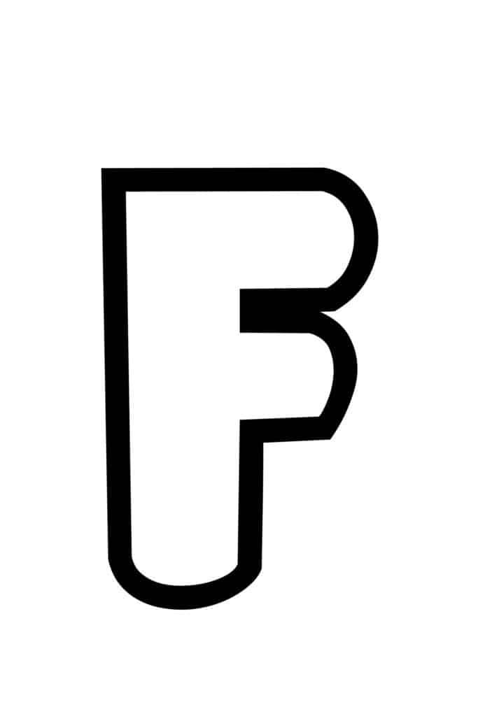 free printable bubble letter stencils bubble letter F