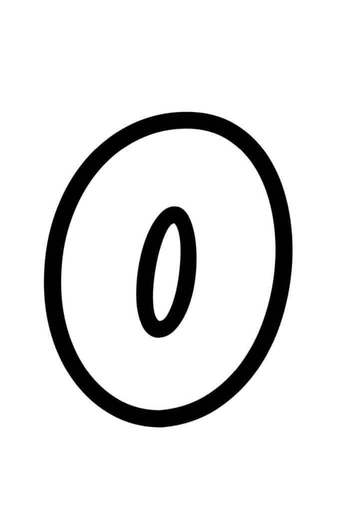free printable bubble letter stencils bubble letter O