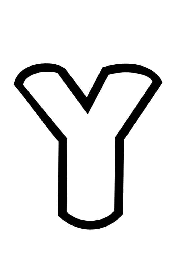 free printable bubble letter stencils bubble letter Y