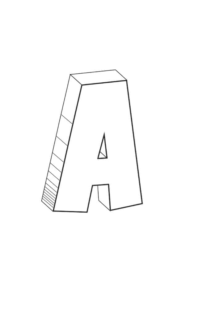 free printable cool bubble letter A