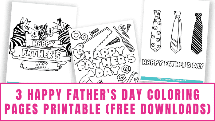 Kids of all ages can turn these Happy Father's Day coloring pages printable free downloads into a heartfelt homemade Father's Day card.