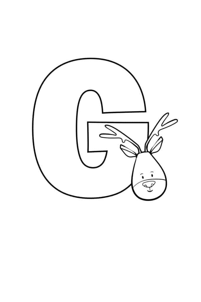 printable cute bubble letter G