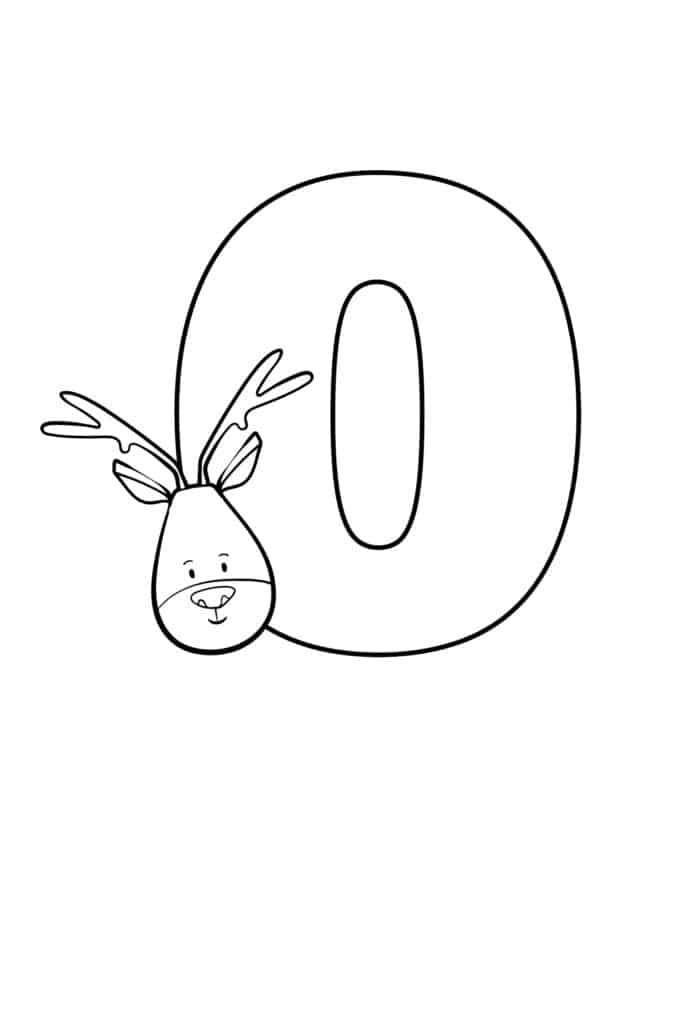printable cute bubble letter O
