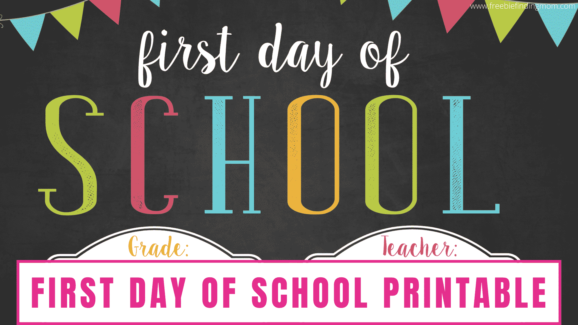 Using a first day of school template free printable is a great way to commemorate your kid's first day of school. Having them hold this free printable while you take their picture is a tradition that many parents do each year.
